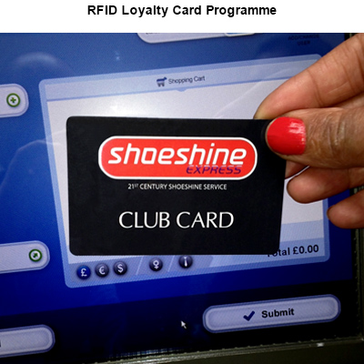 RFID Shoeshine Loyalty Card Programme